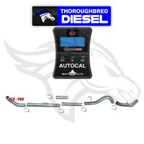 MotorOps AutoCal W/ Flo Pro 5'' SS Turbo Back No Muff for 07.5-09 Cummins