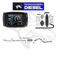 H&S Mini Maxx W Flo Pro EGRD & 4'' Alum DP Back Exhaust 11-14 6.7L Powerstroke