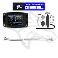 H&S Mini Maxx W Flo Pro EGRD & 4'' Cat & DPF Race Pipes 11-14 6.7L Powerstroke