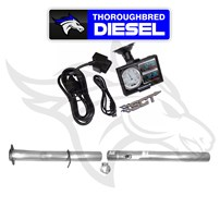 SCT Livewire Comp Tuner W/ 4'' SS Cat DPF Race Pipes 08-10 6.4L Powerstroke