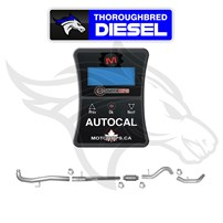 MotorOps AutoCal W/ Flo Pro 4'' SS DP Back Exhaust for 11-15 LML Duramax