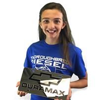 Thoroughbred Diesel Custom License Plate - DURAMAX (Chrome)