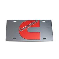 Thoroughbred Diesel Custom License Plate - CUMMINS Smoke w/ Red Lettering