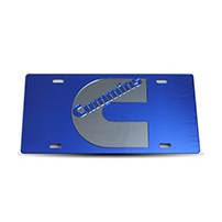 Thoroughbred Diesel Custom License Plate - CUMMINS Royal Blue w/ Smoke Lettering