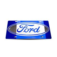 Thoroughbred Diesel Custom License Plate - FORD Royal Blue w/ Royal Blue Lettering