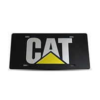 Thoroughbred Diesel Custom License Plate - CAT Black w/ Chrome Lettering