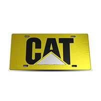 Thoroughbred Diesel Custom License Plate - CAT Yellow w/ Black Lettering
