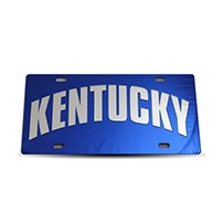 Thoroughbred Diesel Custom License Plate - KENTUCKY Royal Blue w/ Chrome Lettering