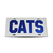 Thoroughbred Diesel Custom License Plate - CATS White w/ Royal Blue Lettering
