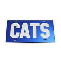 Thoroughbred Diesel Custom License Plate - CATS Royal Blue w/ White Lettering