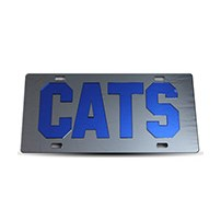 Thoroughbred Diesel Custom License Plate - CATS Smoke w/ Royal Blue Lettering
