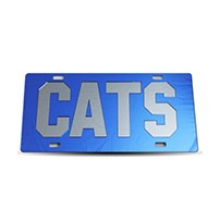 Thoroughbred Diesel Custom License Plate - CATS Royal Blue w/ Smoke Lettering