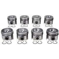 MAHLE Pistons (Qty 8) - 08-10 Ford 6.4L Powerstroke - 224-3666