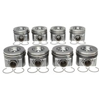MAHLE Pistons (Qty 8) with Rings - 08-10 Ford 6.4L Powerstroke - 224-3666WR