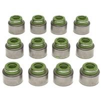 MAHLE Valve Stem Oil Seals Exhaust Positive Style Set of 12 - 98.5-02 Dodge Cummins 5.9L - B45902