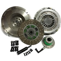 Valair Single Disc Clutch - 01-05 Chevy/GMC Duramax w/ZF6 Transmission - Solid Flywheel Organic/Organic 400HP/800TQ