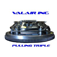 Valair Competition Clutch - 01-06 Chevy/GMC Duramax w/ZF6 Transmission - Competition Sled Pull TRIPLE Lever PP Iron Disc 1200 HP (SFI Approved) 1200HP - NMU70DMAXTRIPLE-N/W