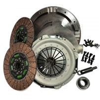 Valair Dual Disc Clutch for ZF6 Transmission -  99-03 Ford 7.3L Direct Injection w/6 Speed - (Dual Mass Conversion) - Organic Spring Hub Street DD Billet Flywheel 550HP/1100TQ - NMU73ZF6DDS-ORG