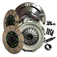 Valair Dual Disc Clutch for ZF6 Transmission -  99-03 Ford 7.3L Direct Injection w/6 Speed - (Dual Mass Conversion) - Spring Hub Street Dual Disc Billet Flywheel 650HP/1300TQ - NMU73ZF6DDS