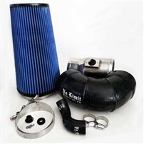 "No Limit Fabrication 2008-2010 Ford 6.4 Cold Air Intake, Polished, Oiled Filter for Mod Turbo 5"" Inlet"