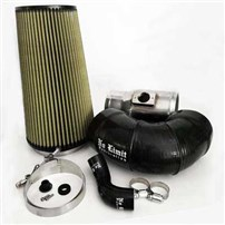 "No Limit Fabrication 2008-2010 Ford 6.4 Cold Air Intake, Polished, PG7 Filter for Mod Turbo 5"" Inlet"