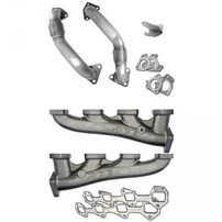 PPE Race High Flow Exhaust Manifold w/Up-pipes Single Turbo (Ceramic Coated) - 01-14 GM Duramax 6.6L