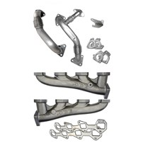 PPE High Flow Exhaust Manifold with Up-pipes (Ceramic Coated) - 04.5-05 GM 6.6L Duramax LLY