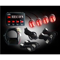 Recon - High-Intensity 90-Watt 4-Bulb Xenon - Red Strobe Light Kit - 26419RD