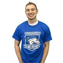 Thoroughbred Diesel Blue Shield T-Shirt