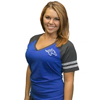 Thoroughbred Diesel Womens V-Neck Pinstripe T-Shirt