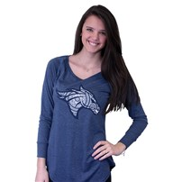 Thoroughbred Diesel Ladies Long Sleeve Blue Frost Tunic