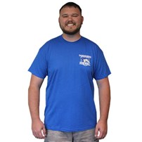 Thoroughbred Diesel Short Sleeve Royal Blue Left Chest Shield, Thoroughbred Piston on Back
