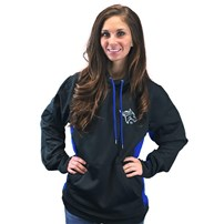 Thoroughbred Diesel Black and Blue Sport Wicking Hoodie