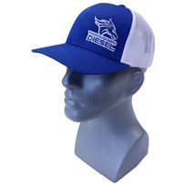 Thoroughbred Diesel Blue Bill, Blue Front, White Mesh Snap Back Blue/White Logo Hat