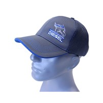 Thoroughbred Diesel Gray Bill, Gray Front, Gray Mesh Velcro Back White/Blue Logo Hat