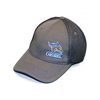 Thoroughbred Diesel Gray Bill, Gray Front, Gray Mesh Snap Back White/Blue Logo Hat