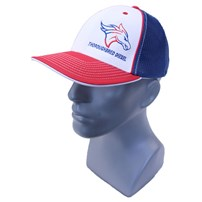 Thoroughbred Diesel American Flag Horse Head Hat