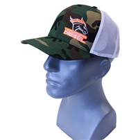 Thoroughbred Diesel Army Camo Bill, Army Camo Front, White Mesh, Orange White Logo, Snap Back Hat