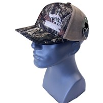 Thoroughbred Diesel Mossy Oak Break-Up Bill and Front, Khaki Mesh, Khaki White Logo, Snap Back Hat