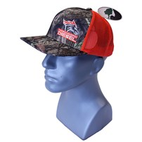 Thoroughbred Diesel Mossy Oak Break-Up Bill and Front, Orange Mesh, Orange White Logo, Snap Back Hat