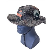 Thoroughbred Diesel Mossy Oak Break-Up Camo Boonie Hat, Orange White Logo