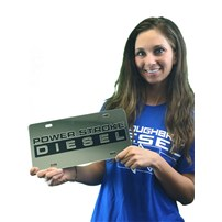 Thoroughbred Diesel Custom License Plate - POWERSTROKE (Chrome)