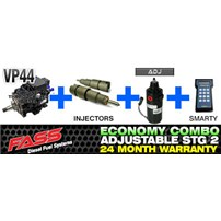 VP44 2 Year Warranty - Injectors - FASS Adjustable - Smarty Tuner Combo Package