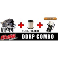 24 Month Warrany VP44 fits 98.5-99.5 Auto/5 speed Transmission - FASS DDRP combo package - includes 24 Month Warrany VP44 15X, Fleetguard fuel filter, and FASS DDRP - 15X2YRDDRPE