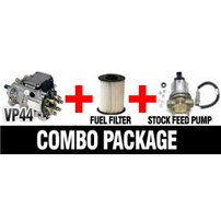 VP44 Stock Package - VP44 1998.5-1999.5 Auto/5 speed Transmission combo package - includes VP44 15X, Fleetguard Fuel Filter, and Stock Feed Pump - 15X1YRSTOCKE