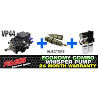 VP44 2 Year Warranty - Injectors - FASS Pump Combo Package