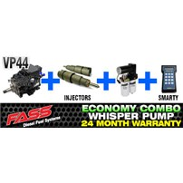 VP44 2 Year Warranty - Injectors - FASS Pump - Smarty Tuner Combo Package