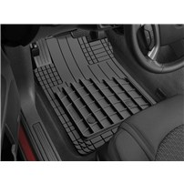 WeatherTech Heavy Duty AVM Universal Floor Mats - Front & Second Row (4 Piece) - BLACK