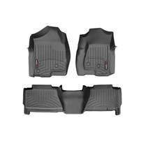 WeatherTech DigitalFit FloorLiner Set - 2001-2007 GM Silverado/Sierra (Crew Cab) - Black
