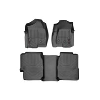 WeatherTech DigitalFit FloorLiner Set - 2001-2007 GM Silverado/Sierra (Extended Cab, Long Bed) - Black